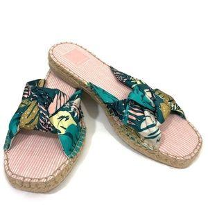 Dolce Vita espadrilles flats tropical print shoes